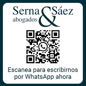 Banner Serna & Sáez Abogados contacto por WhatsApp.